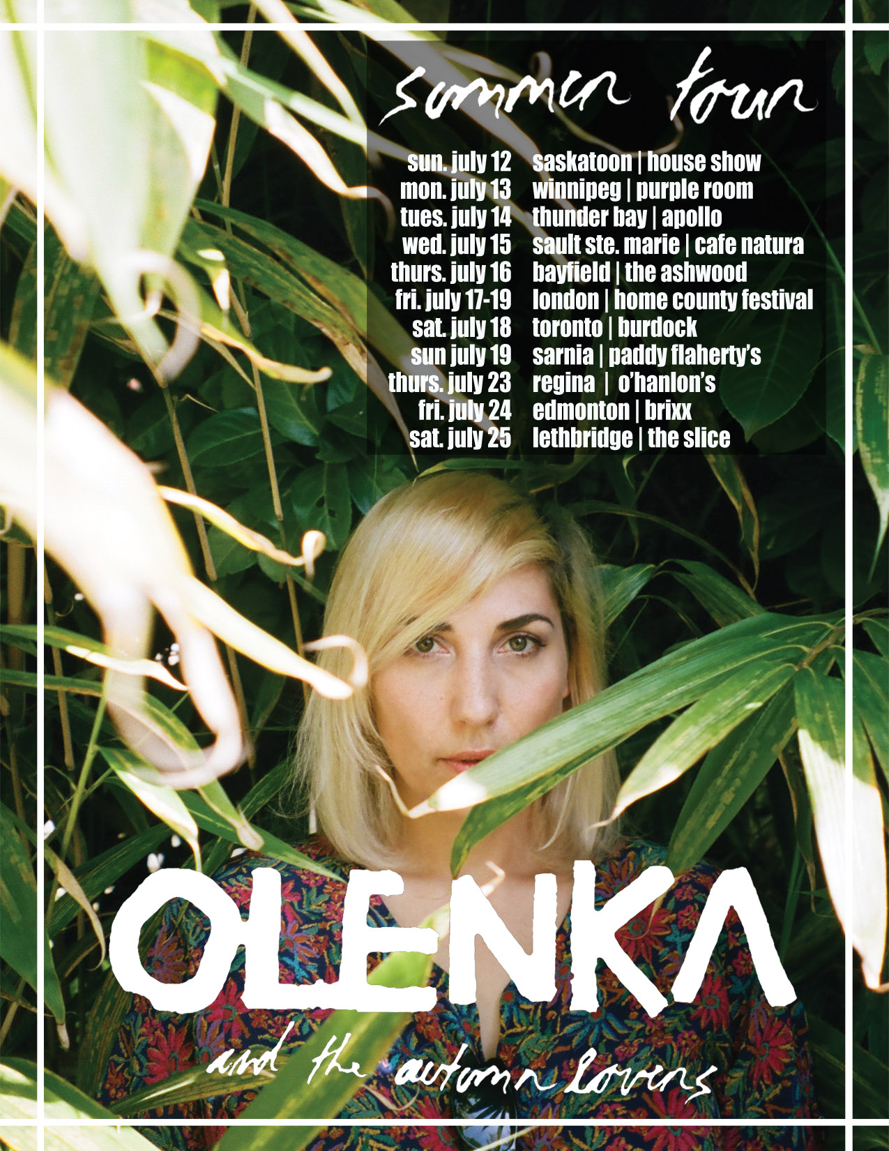 olenka summer tour 2015